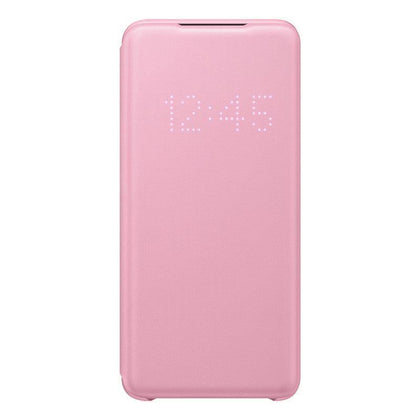 Official Samsung Galaxy S20 LED View Cover Case Pink - EF-NG980PPEGEU - Uk Mobile Store