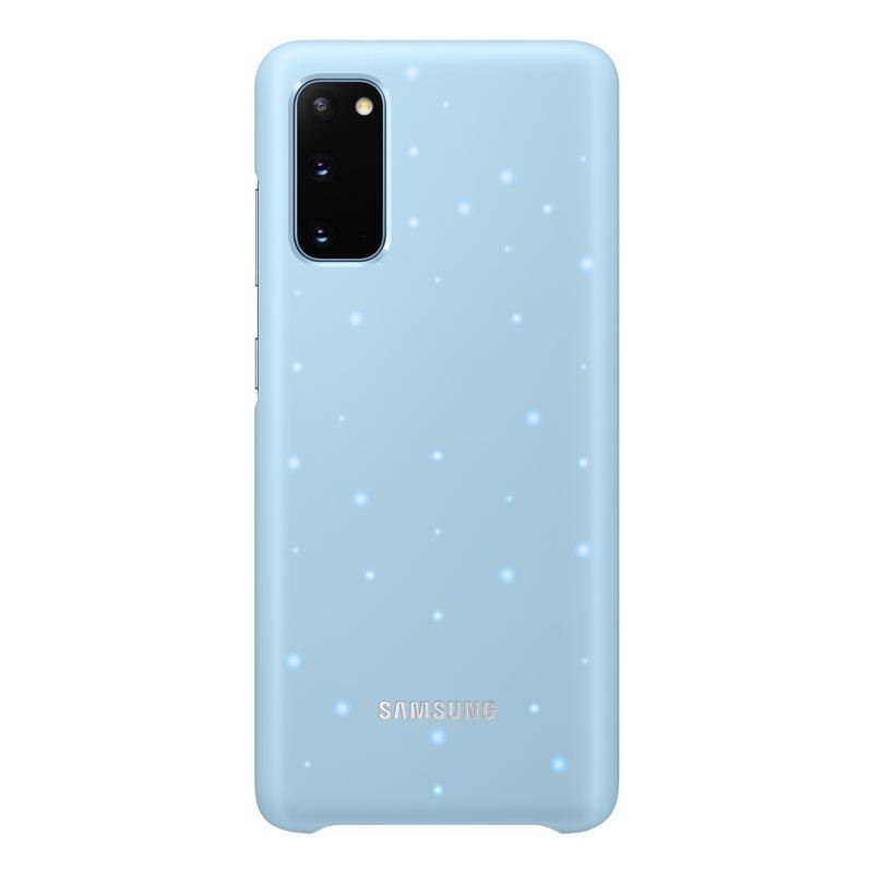 Official Samsung Galaxy S20 LED Cover Case Sky Blue - EF-KG980CLEGEU