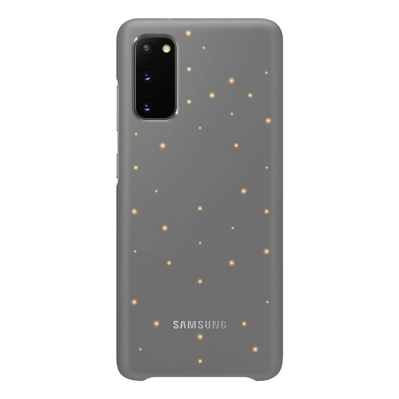 Official Samsung Galaxy S20 LED Cover Case Grey - EF-KG980CJEGEU