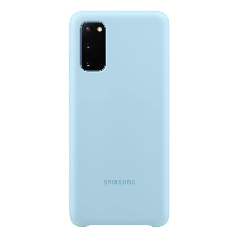 Official Samsung Galaxy S20 Silicone Cover Case Sky Blue - EF-PG980TLEGEU - Uk Mobile Store