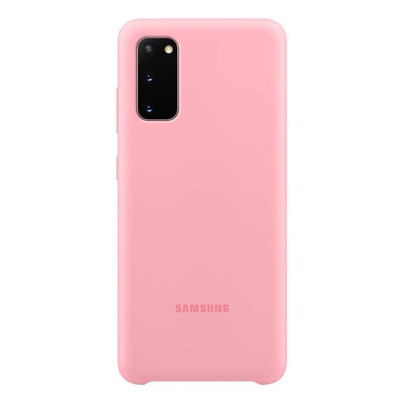 Official Samsung Galaxy S20 Silicone Cover Case Pink - EF-PG980TPEGEU - Uk Mobile Store
