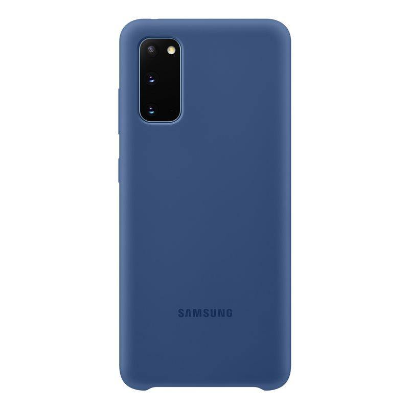 Official Samsung Galaxy S20 Silicone Cover Case Navy - EF-PG980TNEGEU - Uk Mobile Store