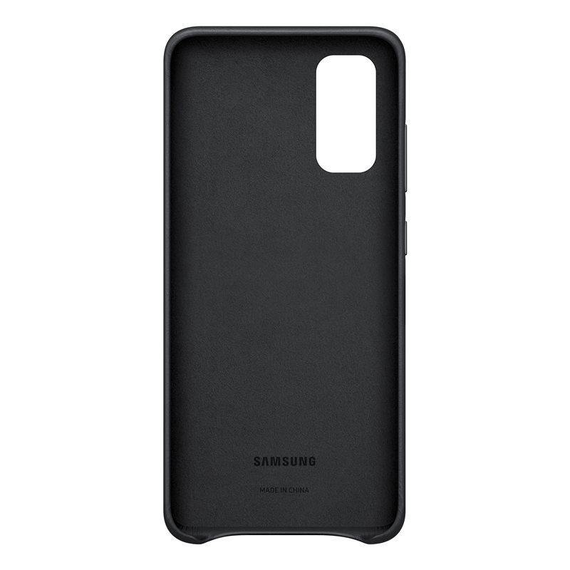 Official Samsung Galaxy S20 Leather Cover Case Black - EF-VG980LBEGEU