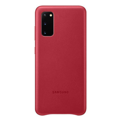 Official Samsung Galaxy S20 Leather Cover Case Red - EF-VG980LREGEU
