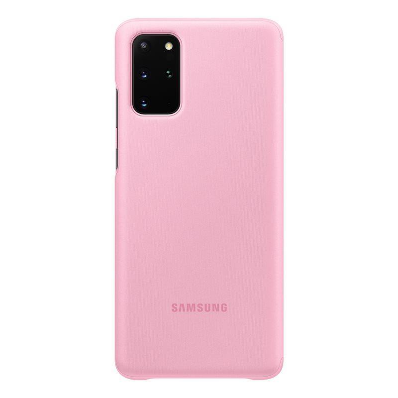 Official Samsung Galaxy S20 Plus Clear View Cover Case Pink - EF-ZG985CPEGEU - Uk Mobile Store