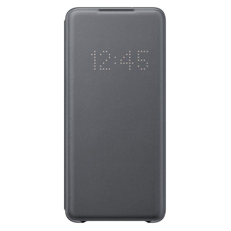 Official Samsung Galaxy S20 Plus LED View Cover Case Grey - EF-NG985PJEGEU