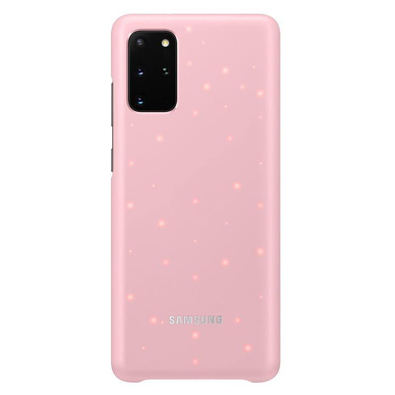 Official Samsung Galaxy S20 Plus LED Cover Case Pink - EF-KG985CPEGEU - Uk Mobile Store