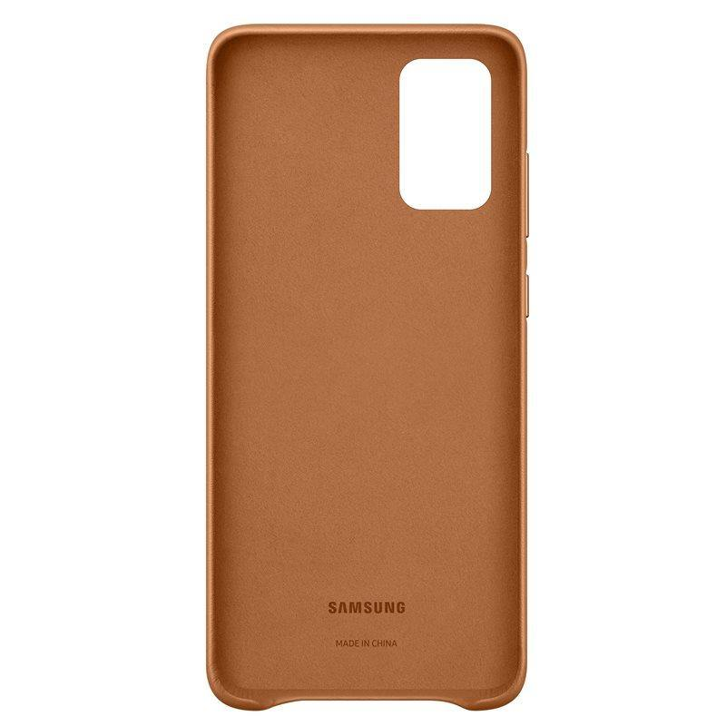Official Samsung Galaxy S20 Plus Leather Cover Case Brown - EF-VG985LAEGEU - Uk Mobile Store