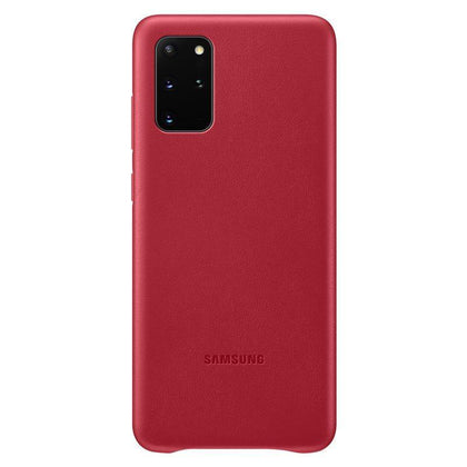 Official Samsung Galaxy S20 Plus Leather Cover Case Red - EF-VG985LREGEU - Uk Mobile Store
