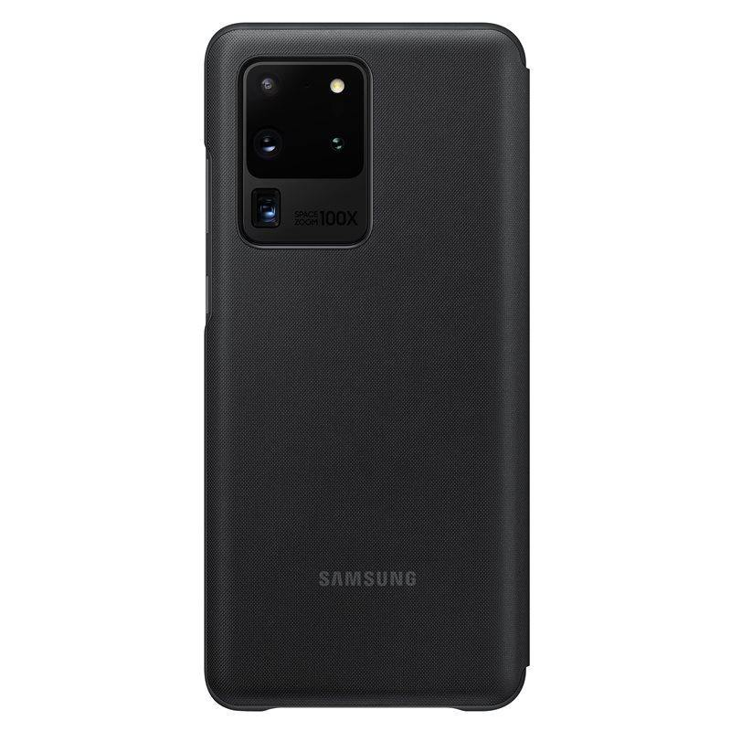 Official Samsung Galaxy S20 Ultra LED View Cover Case Black - EF-NG988PBEGEU