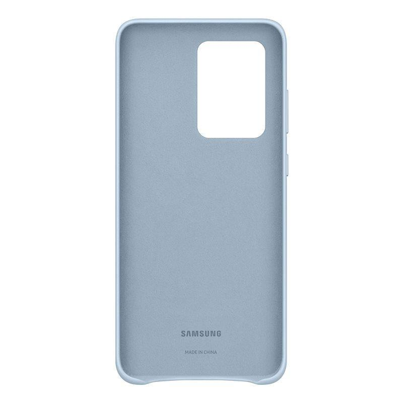 Official Samsung Galaxy S20 Ultra Leather Cover Case Sky Blue - EF-VG988LLEGEU - Uk Mobile Store