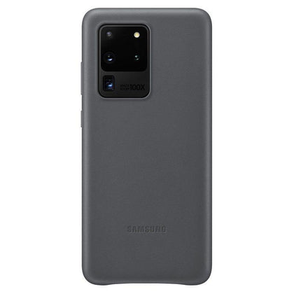 Official Samsung Galaxy S20 Ultra Leather Cover Case Grey - EF-VG988LJEGEU
