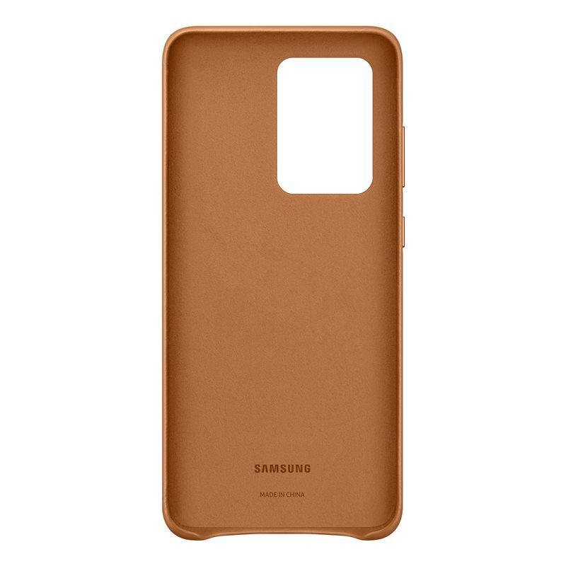 Official Samsung Galaxy S20 Ultra Leather Cover Case Brown - EF-VG988LAEGEU - Uk Mobile Store