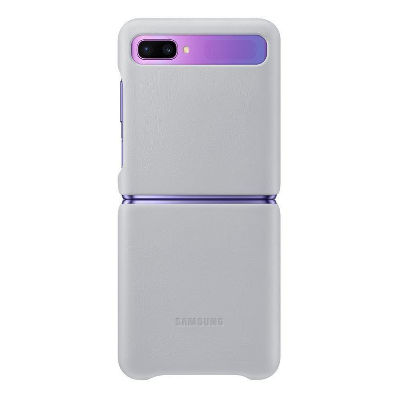 Official Samsung Galaxy Z Flip Genuine Leather Cover Case White - EF-VF700LWEGEU