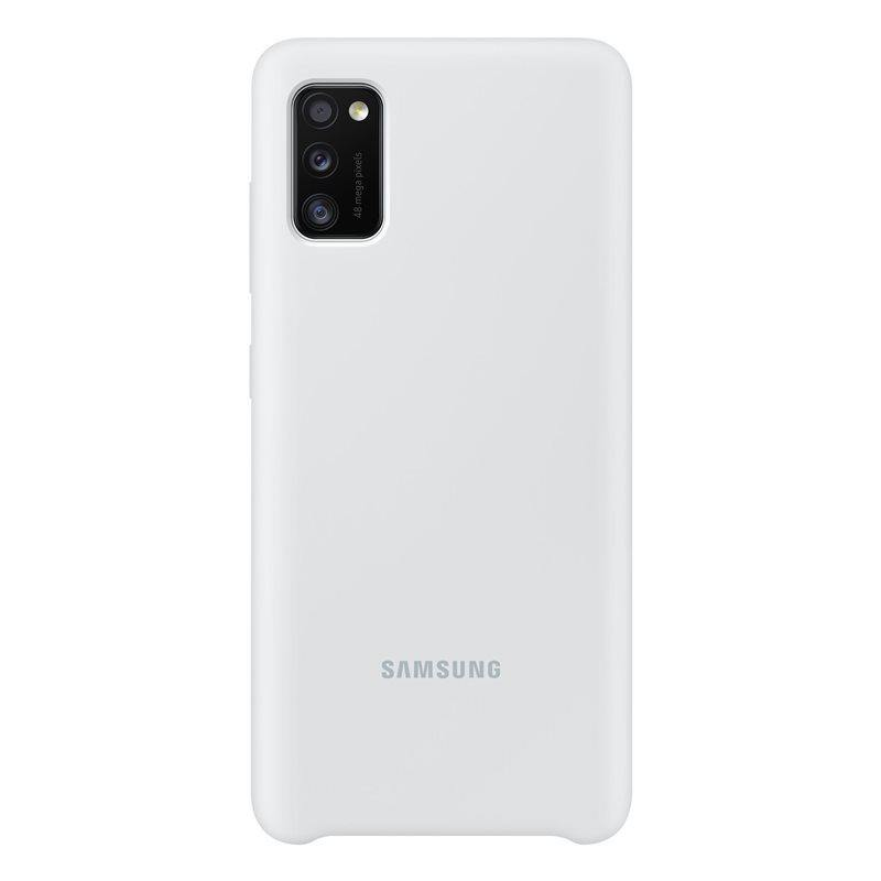 Official Samsung Galaxy A41 Silicone Cover Case White EF-PA415TWEGEU - Uk Mobile Store
