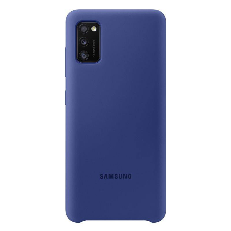Official Samsung Galaxy A41 Silicone Cover Case Blue EF-PA415TLEGEU