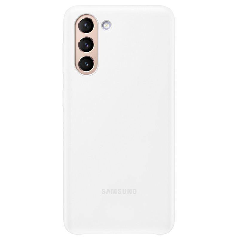 Official Samsung Galaxy S21 LED Cover Case White - Uk Mobile Store