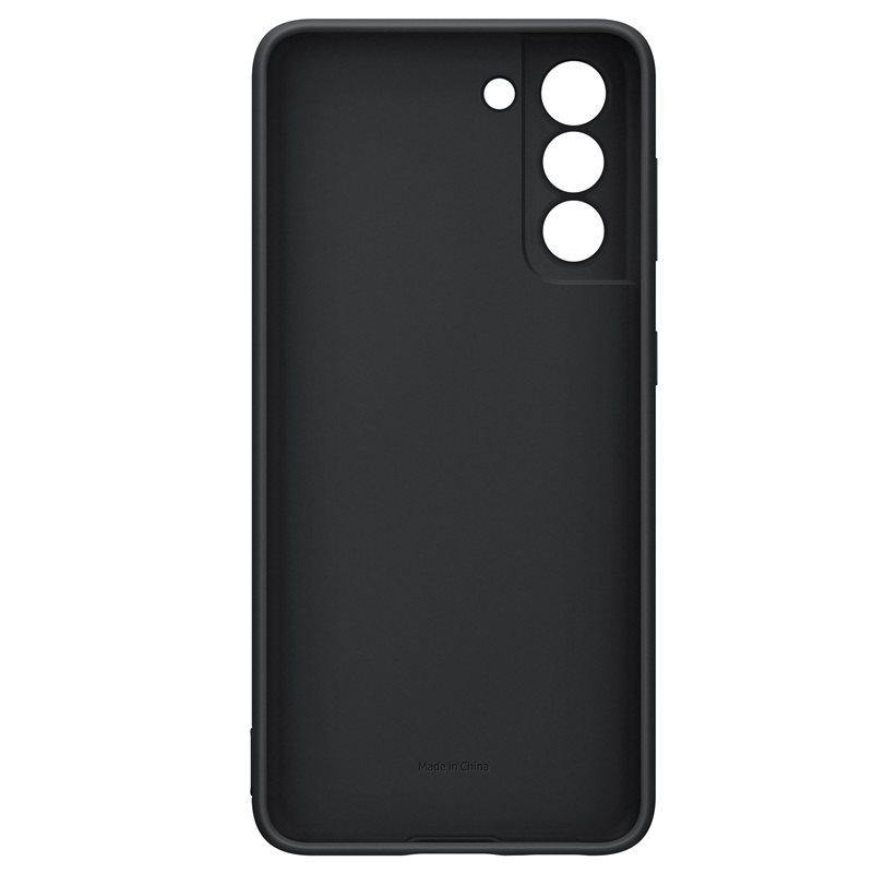 Official Samsung Galaxy S21 Silicone Cover Case Black - Uk Mobile Store