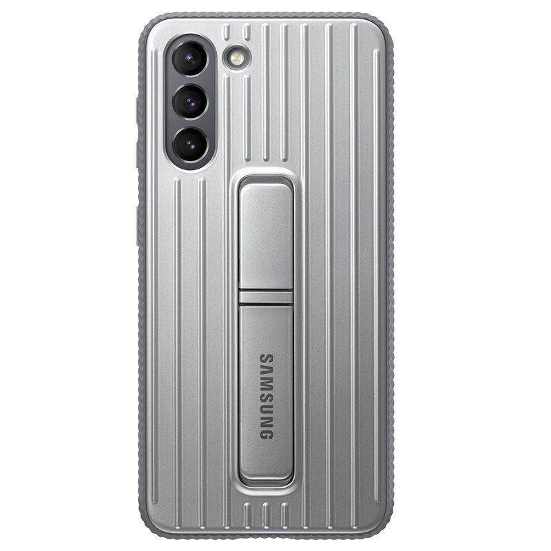 Official Samsung Galaxy S21 Protective Standing Cover Case Light Grey - Uk Mobile Store