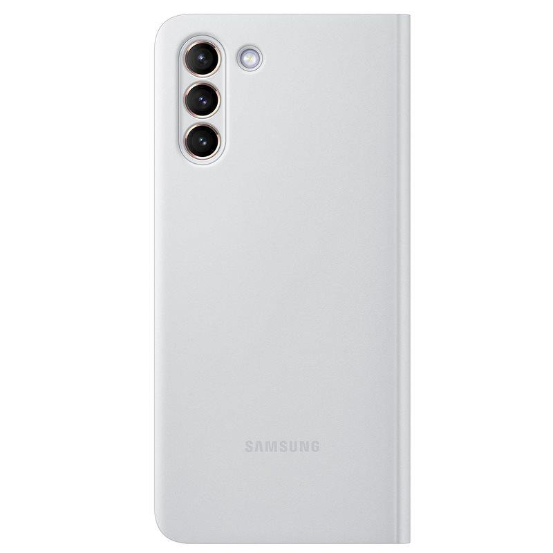Official Samsung Galaxy S21 Plus Clear View Cover Case Light Grey - Uk Mobile Store