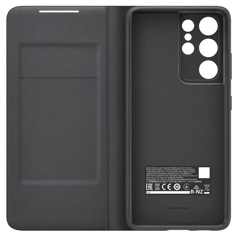 Official Samsung Galaxy S21 Ultra LED View Cover Case Black - Uk Mobile Store