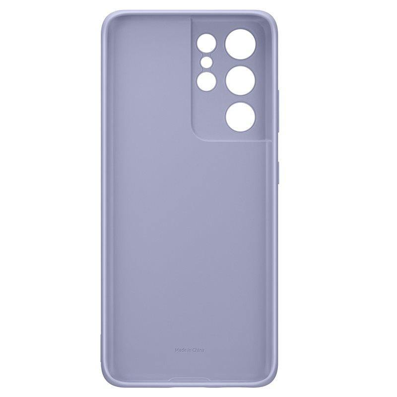 Official Samsung Galaxy S21 Ultra Silicone Cover Case Violet - Uk Mobile Store