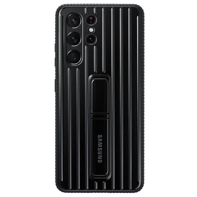 Official Samsung Galaxy S21 Ultra Protective Standing Case Black - Uk Mobile Store