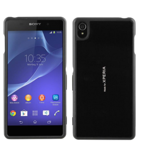 Sony Xperia Z3 Gel Shell Plus Cover Case - Black