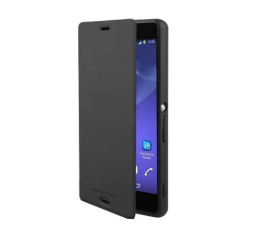 Sony Xperia Z3 Compact Gel Shell Flip Plus Cover Case - Black - Uk Mobile Store