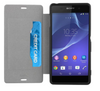 Sony Xperia Z3 Gel Shell Flip Plus Cover Case - White