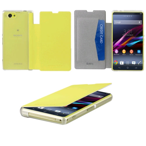 Sony Xperia Z1 Compact Book Flip Case - Lime Green