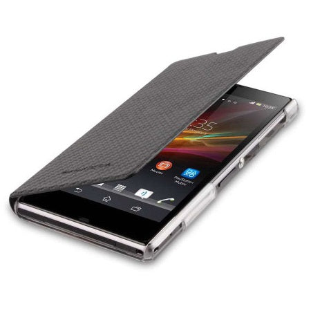 Sony Xperia Z1 Book Flip Case - Carbon Black