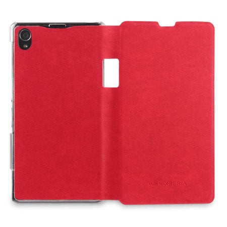 Sony Xperia Z1 Book Flip Case - Monza Red
