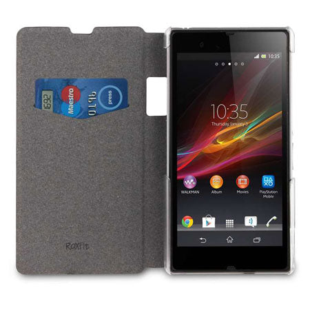 Sony Xperia Z1 Book Flip Case - Nero Black