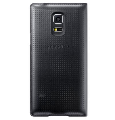 Samsung Galaxy S5 Mini Flip Cover Case - Charcoal Black