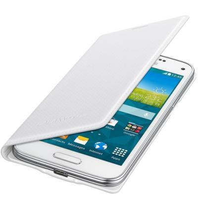 Samsung Galaxy S5 Mini Flip Cover Case - Shimmery White - Uk Mobile Store