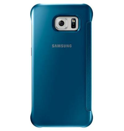 Official Samsung Galaxy S6 Clear View Cover Case Blue - EF-ZG920BLEGWW