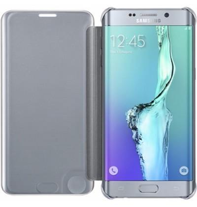 Samsung Galaxy S6 Edge+ Plus Clear View Cover Case Silver