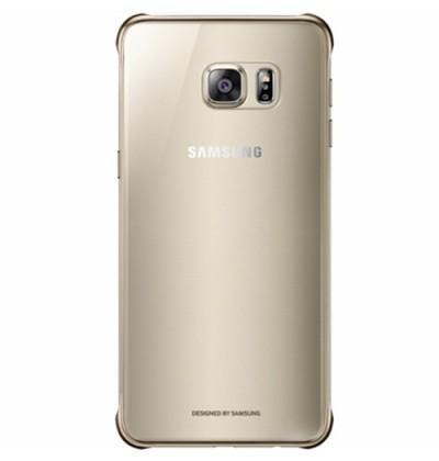 Official Samsung Galaxy S6 Edge+ Plus Clear Cover Case - Gold
