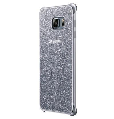Official Samsung Galaxy S6 Edge+ Plus Glitter Cover Case - Silver - Uk Mobile Store
