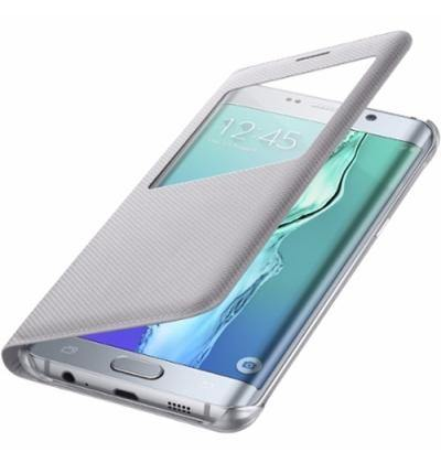 Official Samsung Galaxy S6 Edge+ Plus S View Cover Case - Silver