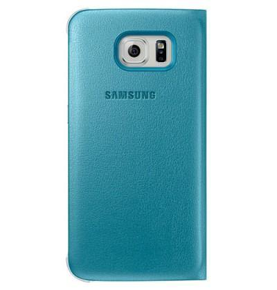 Official Samsung Galaxy S6 Flip Wallet Cover Blue - EF-WG920PLEGWW