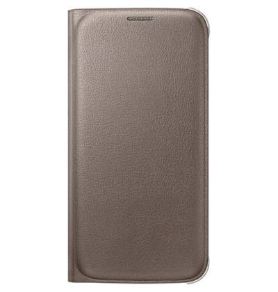 Official Samsung Galaxy S6 Flip Wallet Cover Gold - EF-WG920PFEGWW