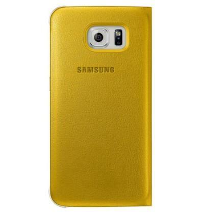 Official Samsung Galaxy S6 S View Premium Cover Case - Yellow - Uk Mobile Store