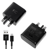 Official Samsung Galaxy A30 A40 A50 A70 A80 A90 Fast Mains Adapter Charger with Type-C USB Cable Black