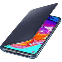 Official Samsung Galaxy A70 Wallet Flip Cover Case Black