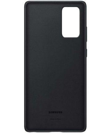 Official Samsung Galaxy Note 20 Leather Cover Case - Black