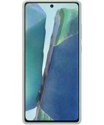 Official Samsung Galaxy Note 20 Silicone Cover - Mystic Green - Uk Mobile Store