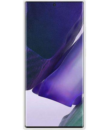 Official Samsung Galaxy Note 20 Ultra Silicone Cover Case - Mystic White