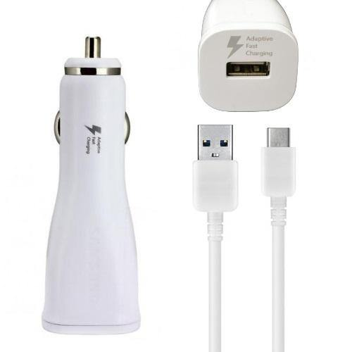 Official Samsung Galaxy A41 Fast Car Charger with USB-C Cable White